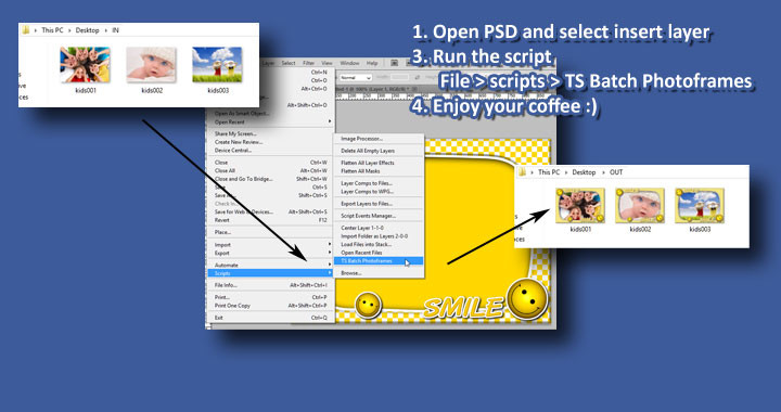 Photoshop Script Batch Photoframes