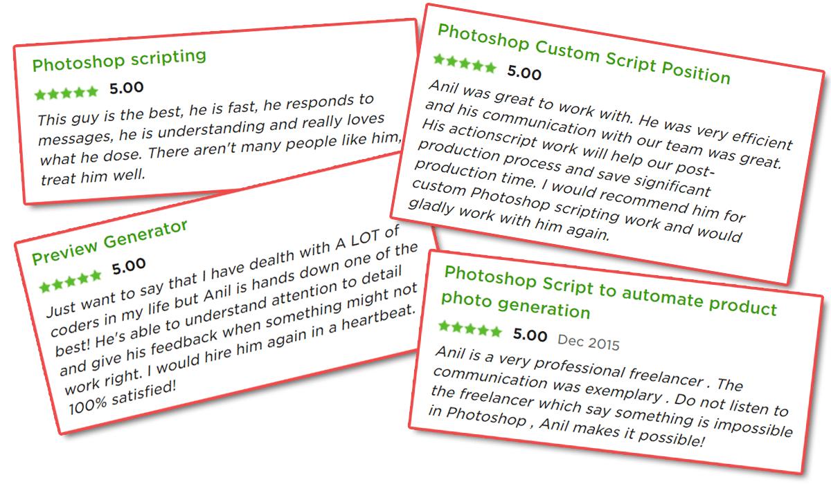 Photoshop Plugins Testimonials